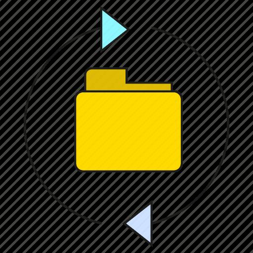 archive, arrow, backup, file, folder icon