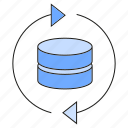 arrow, backup, data, server icon