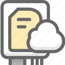 cloud space, datas, hard disk, space, storage icon