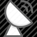 network, receiver, satellite, signal icon
