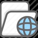 internet folder, network folder icon