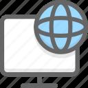 internet computer, network computer icon