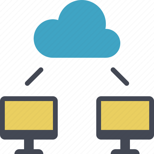 cloud, cloud storage, file sharing, network, sharing icon
