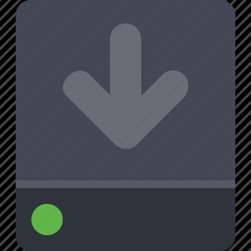 backup, data, data storage, database, disk, download, storage icon