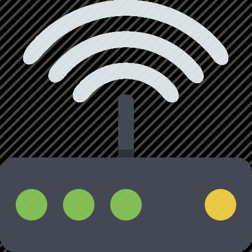 communication, internet, modem, network, signal, wifi, wireless icon