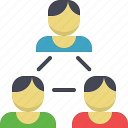 group of people, hierarchy, network, people, sharing, team, users icon