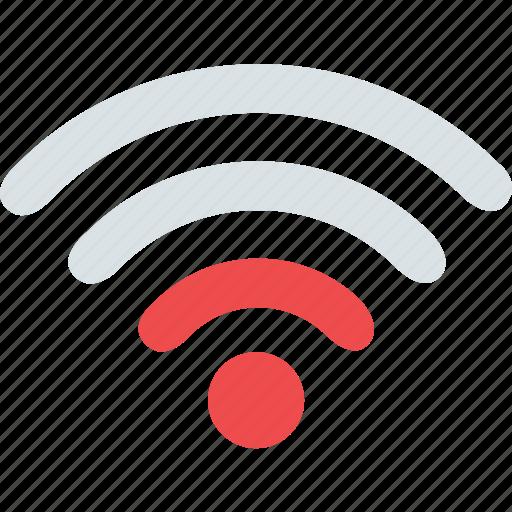 internet, low signal, network, signal, wifi, wireless icon
