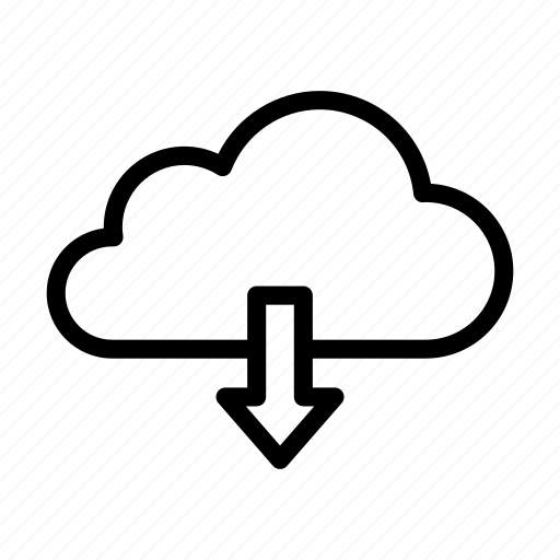 cloud, database, download, memory, storage icon
