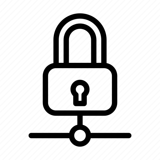 lock, network, private, protection, secure icon