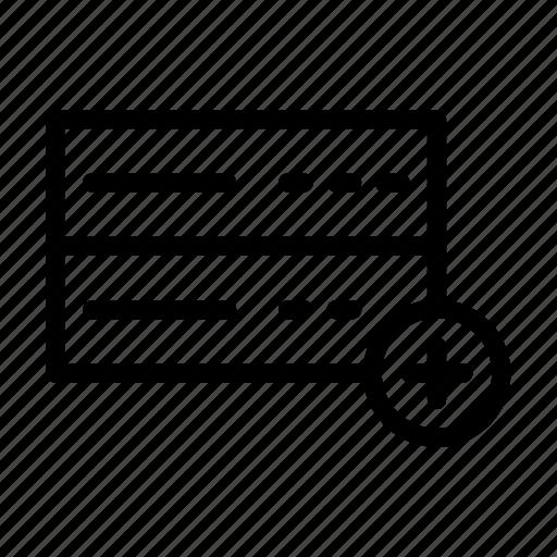 add, database, memory, server, storage icon