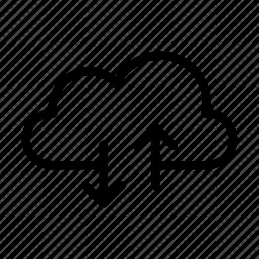 cloud, download, online, storage, upload icon