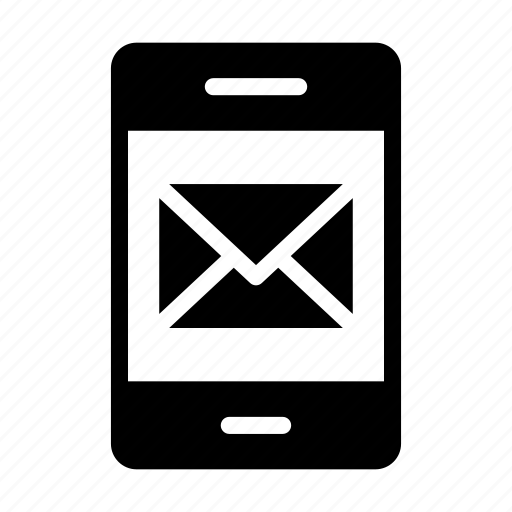 email, inbox, message, mobile, phone icon