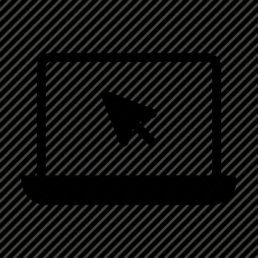 cursor, internet, laptop, notebook, online icon