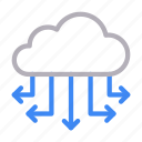 cloud, computing, connection, database, server icon