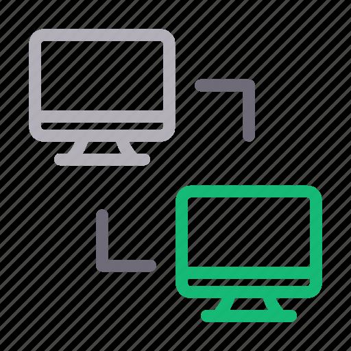 data, exchange, filesharing, lcd, transfer icon