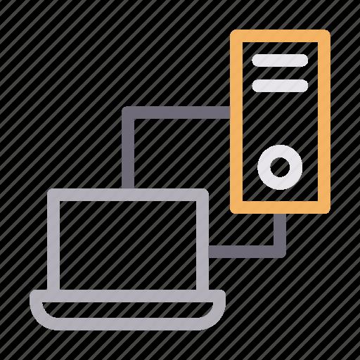 data, exchange, filesharing, laptop, transfer icon