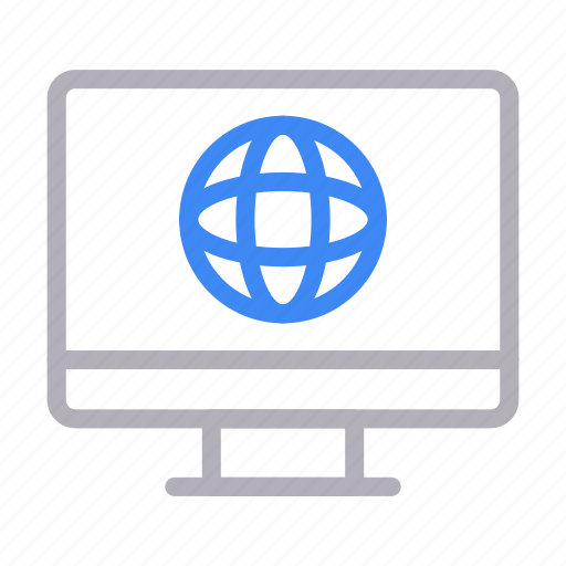 browser, global, internet, lcd, online icon