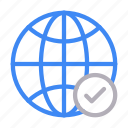 connection, global, internet, online, world icon