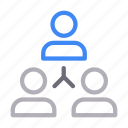 connection, group, hierarchy, network, team icon