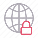 global, lock, private, protection, secure icon