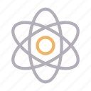 atom, electron, molecule, neutron, science icon