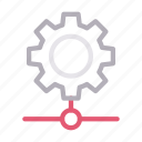 configure, connection, gear, network, setting icon