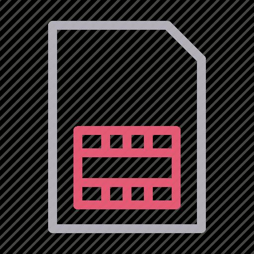 card, chip, data, mobile, sim icon