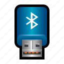 adaptor, bluetooth, connection, dongle, network, short, wireless icon