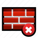 alert, error, firewall, protection, security, stop, warning icon
