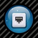 cable, connect, connection, ethernet, internet, plug, rj 45 icon