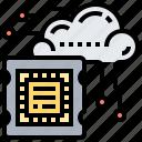 cloud, cpu, digital, microchip, processor