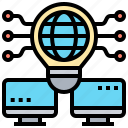 computer, idea, global, creative, network icon
