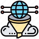 cloud, data, filtering, global, selection icon