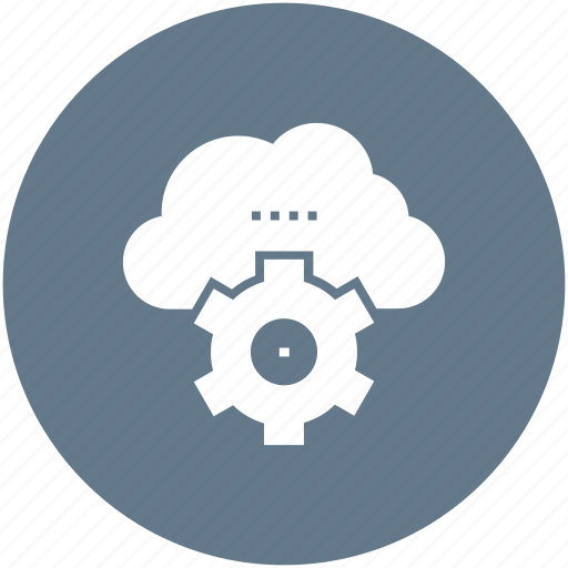 cloud, cogwheel, computing, hosting, internet, network, services icon icon