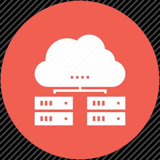 cloud, computing, data, database, internet, network, storage icon icon