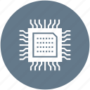 chip, computer, cpu, electronics, hardware, microchip, processor icon icon