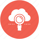 cloud, data, find, internet, magnifier, network, search icon icon