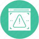 access, alert, denied, error, virus, warning, web icon icon