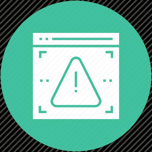 access, alert, denied, error, virus, warning, web icon icon