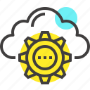 cloud, cogwheel, computing, hosting, internet, network, services icon