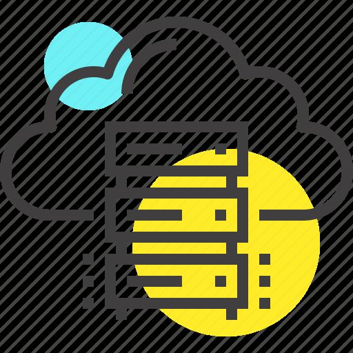 cloud, computing, data, database, internet, network, storage icon