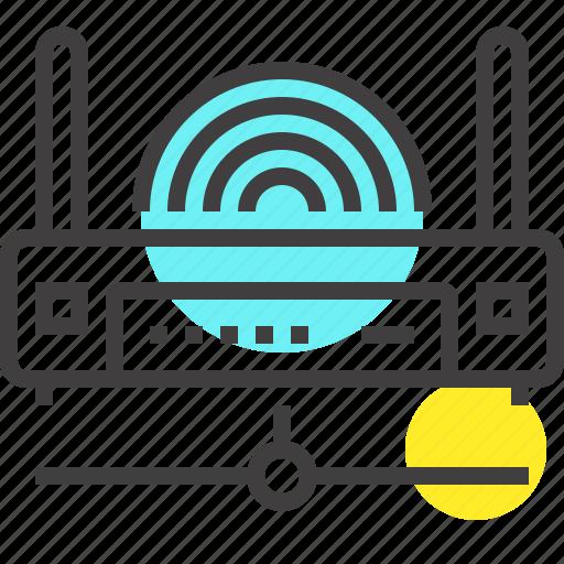 communication, internet, lan, network, router, wifi, wireless icon
