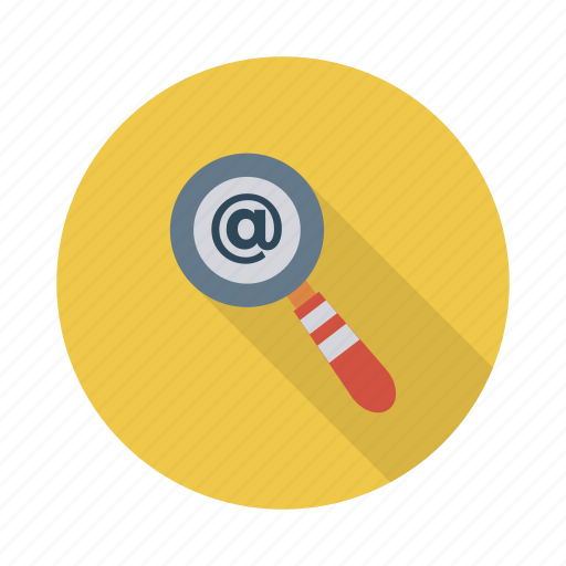 email, find, glass, letter, mail, message, search icon