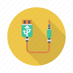 cable, device, disk, flash, memory, technology, usb icon