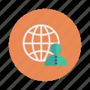 avatars, business, client, global, globe, network, user