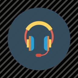 audio, earphone, headphone, headset, multimedia, music icon