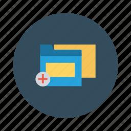 add, archive, data, favorite, files, folder, storage icon