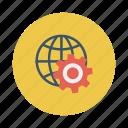 business, cog, configuration, gear, globe, web, work