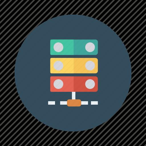 computer, database, hosting, network, server, servers, storage icon