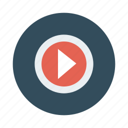 audio, media, music, play, player, start, video icon
